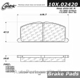 Centric - 105.02420 - Ceramic Brake Pads