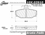 Centric - 105.03910 - Ceramic Brake Pads