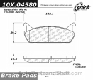Centric - 105.04580 - Ceramic Brake Pads