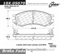 Centric - 105.05070 - Ceramic Brake Pads