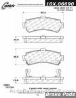 Centric - 105.06690 - Ceramic Brake Pads