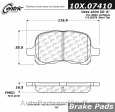 Centric - 105.07410 - Ceramic Brake Pads