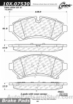 Centric - 105.07530 - Ceramic Brake Pads