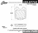 Centric - 105.07710 - Ceramic Brake Pads