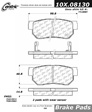 Centric - 105.08130 - Ceramic Brake Pads