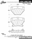 Centric - 105.08230 - Ceramic Brake Pads