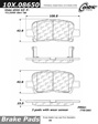 Centric - 105.08650 - Ceramic Brake Pads