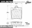 Centric - 105.08760 - Ceramic Brake Pads