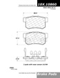 Centric - 105.10860 - Ceramic Brake Pads