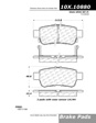 Centric - 105.10880 - Ceramic Brake Pads