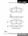 Centric - 105.11000 - Ceramic Brake Pads