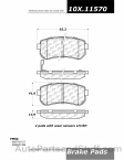 Centric - 105.11570 - Ceramic Brake Pads
