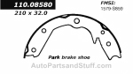 Centric - 111.08580 - Centric Brake Shoes