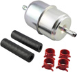 Hastings Filters - GF1 - In-Line Fuel Filter with Clamps and Hoses