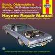 Haynes - 19025 - Buick / Olds / Pont. Full-Size (RWD)  '70-'90