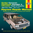 Haynes - 30010 - Dodge & Plymouth Mini Vans  '84-'95