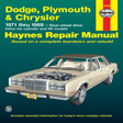 Haynes - 30050 - Dodge/Plymouth/Chrysler Full-Size (RWD)  '71-'89