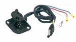 Hopkins - 47155 - 4 Wire Flat to 6 Round Adapter (plastic) pre-wired, flexible