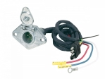 Hopkins - 47165 - 4 Wire Flat to 6 Round Adapter (metal)  pre-wired, flexible