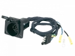 Hopkins - 47205 - 4 Wire Flat to 7 Blade Adapter (plastic) pre-wired, flexible