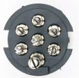Hopkins - 47545 - 7 RV Blade to 6 round Adapter (center pin aux)