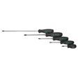 K Tools - 16002 - Pro Series Screwdriver Set, 5 Piece, Phillips Tips, with Triangular Non-Slip Grips