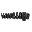 K Tools - 21500 - Tamper Proof Torx Bit Set, T10 to T55, with 1/4