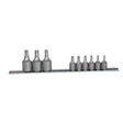 K Tools - 22800 - Socket Set, 9 Piece, 1/4