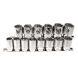 K Tools - 28100 - Chrome Socket Set, 1/2