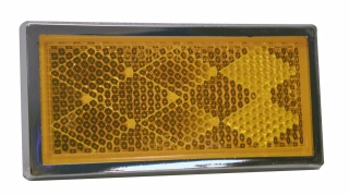 Peterson - B484A Amber, Chrome Rectangular Quick-Mount Reflectors