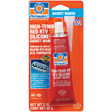 Permatex - 81160 - High-Temp Red RTV Silicone Gasket, 3 oz. tube