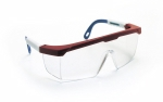 SAS - 5277 - Hornets Eyewear with Polybag, Clear Lens/Red/White/Blue Frame