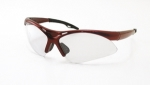 SAS - 540-0000 - DIAMONDBACK Eyewear - Clear Lens, Red Frame w Polybag