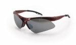 SAS - 540-0003 - DIAMONDBACK Eyewear - Smoke Mirror Lens, Red Frame w Polybag