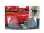 SAS - 540-0010 - Diamondback Eyewear with Clamshell, Clear Lens/Red Frame