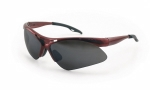 SAS - 540-0011 - Diamondback Eyewear with Clamshell, Shade Lens/Red Frame