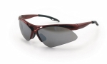 SAS - 540-0013 - Diamondback Eyewear with Clamshell, Smoke Mirror Lens/Red Frame