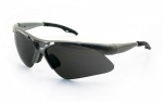 SAS - 540-0111 - Diamondback Eyewear with Clamshell, Shade Lens/Silver Frame