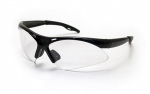 SAS - 540-0200 - DIAMONDBACK Eyewear - Clear Lens, Black Frame w Polybag
