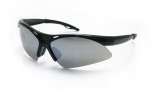 SAS - 540-0203 - DIAMONDBACK Eyewear - Smoke Mirror Lens, Black Frame w Polybag