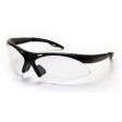 SAS - 540-0210 - Diamondback Eyewear with Clamshell, Clear Lens/Black Frame