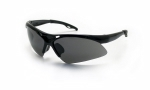 SAS - 540-0211 - Diamondback Eyewear with Chamshell Shade Lens/Black Frame