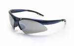 SAS - 540-0303 - DIAMONDBACK Eyewear - Smoke Mirror Lens, Blue Frame w Polybag