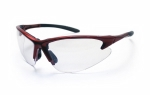 SAS - 540-0400 - DB2 Eyewear with Polybag, Clear Lens/Red Frame