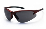 SAS - 540-0401 - DB2 Eyewear with Polybag, Shade Lens/Red Frame