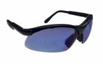 SAS - 541-0015 - Sidewinder Eyewear with Clamshell, Blue Mirror Lens/Black Frame