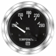 Stewart Warner - 82115 - Marine Deluxe Electric Oil Temp Gauge, 2-1/16