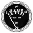Stewart Warner - 82209 - Mechanical Oil Pressure Gauge, 2-1/16