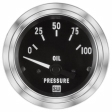 Stewart Warner - 82305 - Deluxe Series Electric Oil Pressure Gauge, 2-1/16
