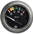 Stewart Warner - 82309 - Deluxe Electric Voltmeter Gauge, 2-1/16